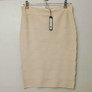Cream Bandage Skirt
